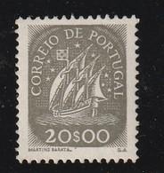 PORTUGAL - N° 643 ** (1943)  Caravelle - 20e Gris-brun - - 1910-... Republic