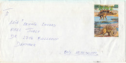 Gambia Cover Sent To Denmark Topic Stamps DINOSAURS Prehistoric Animals - Gambia (1965-...)