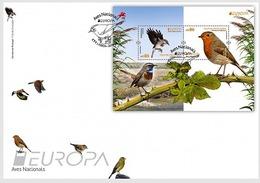 Portugal 2019 FDC EUROPA Bird European Robin Pisco-se-peita Birds Oiseaux Oiseau - 2019