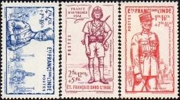 Détail De La Série Défense De L'Empire ** Inde N° 123 à 125 - 1941 Défense De L'Empire