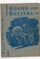 Programme Récital :  SOLIDARITE INTERNATIONALE ANTIFASCISTE (c1946)  (PPP10990) - Programs