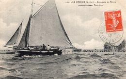 3228 Cpa Le Croisic - Chaloupe De Pêche Passant Devant Port Lin - Le Croisic