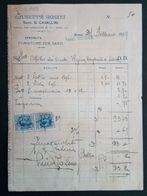 ROMA 1929 - Fattura Forniture Per Sarti Giuseppe Bosini - Marche Da Bollo - Italia