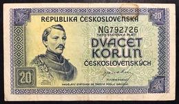 Cecoslovacchia Czechoslovakia 20 Korun 1945  LOTTO 2610 - Tchécoslovaquie