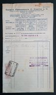 ROMA 1930 - Fattura Società Ferramenta C. Cantini & C.  - Marche Da Bollo - Italia