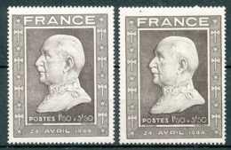 NB - [73334]TB//*/Mh-N° 606, Maréchal Pétain, En 2 Nuances, Un Avec Adhérence. - France