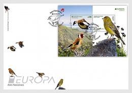 Portugal Madeira 2019 FDC EUROPA Bird Saffron Finch Canario-da-terra Birds Oiseaux Oiseau - 2019