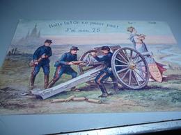 Carte Postale ON NE PASSE PASSE PAS J'AI MON 75 Carte Publicitaire  Lotion Capilaire  1915 - 1914-18