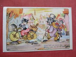 Signed Artist- Dressed Cats  Nederland Stamp & Cancel    Ref 3435 - Cats