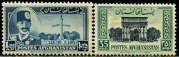 AFH468 Afghanistan 1951 Shah King And Arc De Triomphe 2V Engraving Version MNH - Afghanistan