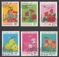 Gabun Gabon 1971 - MiNr. 425-430 O Used (mit Falzresten) - Schnittblumen - Gabun (1960-...)
