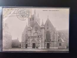 CPA (59) BERGUES.  Eglise De Saint-Martin.      Animation.      (G Bis 522) - Bergues