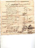 PERPIGNAN,3 Avril 1753-ROVIRA,Procureur Du Roi Doit à CLAZET. - Frankreich