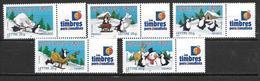 France 2005 Timbres Personnalisés Neufs** Avec Vignette N° 3853A/3856A Cote 75 Euros - Personalisiert