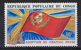 "Congo Aerien YT 141 (PA) "" Adoption Du Drapeau Rouge "" 1972 Neuf** - Congo - Brazzaville"