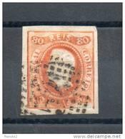 Portugal. 80 Reis Orange - 1855-1858 : D.Pedro V