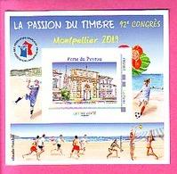 BLOC FFAP N°16 MONTPELLIER 2019  INCLUS MONTIMBRE@MOI FRANCE 20 G LEZTTRE VERTE PORTE DE PEYRON SPORT DE PLAGE MER - FFAP