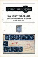 188. Köhler Briefmarken Auktion 1968 - Auktionskatalog Mit Den Bildtafeln - Auktionskataloge