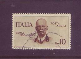 Italia 1934 - Volo Roma-Mogadiscio, Posta Aerea 10 Lire Bruno. Usato - 1900-44 Vittorio Emanuele III