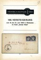 189. Köhler Briefmarken Auktion 1968 - Auktionskatalog Mit Den Bildtafeln - Auktionskataloge