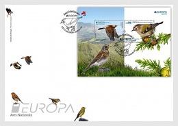 Portugal Azores 2019 FDC EUROPA Bird Goldcrest Ferfolha Birds Oiseaux Oiseau - 2019