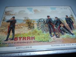 Carte Postale ARTILLERIE  POINTA D'UNE PIECE DE CAMPAGNE Carte Pubblicitaire BYRRH - 1914-18