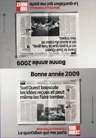 Calendrier °° 2009 - Presse - Journal Sud Ouest - 8x11 - Calendari