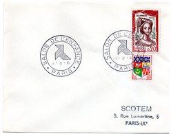 PARIS 1961 = CACHET GRAND FORMAT TEMPORAIRE Illustré D'une COCOTTE = SALON De L' ENFANCE - Marcophilie (Lettres)
