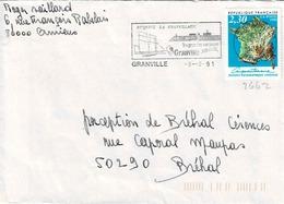 TP N° 2662 Seul Sur Enveloppe  De Granville - Marcophilie (Lettres)