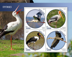 Sierra Leone 2019 Fauna Storks  Birds S201903 - Sierra Leone (1961-...)