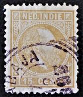 EFFIGIE DE GUILLAUME III 1870/86 -OBLITERE - YT 10 - MI 11 - BELLE OBLITERATION - Niederländisch-Indien