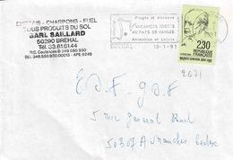 TP N° 2671seul  Sur Enveloppe  De Bréhal - Marcophilie (Lettres)