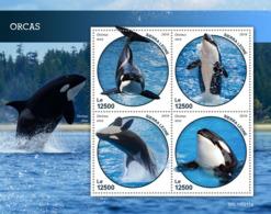 Sierra Leone 2019 Fauna Orcas  ,whales S201903 - Sierra Leone (1961-...)