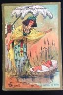 Chocolat Grondard Chromo Illustrateur Lami Berceau Moise Egypte  Belleville - Altri