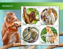 Sierra Leone 2019 Fauna Monkeys S201903 - Sierra Leone (1961-...)
