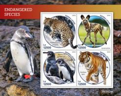 Sierra Leone 2019 Fauna Endangered Species  ,tiger ,penguin, Snow Leopard  S201903 - Sierra Leone (1961-...)