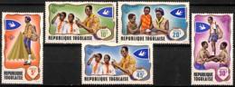 D - [828323]TB//**/Mnh-Togo 1968 - N° 588/92,  Scoutisme, SC - Scoutisme