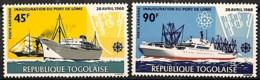 D - [828357]TB//**/Mnh-Togo 1968 - PA93/94, Port De Lomé, Bateaux, Poste Aérienne, SC - Bateaux