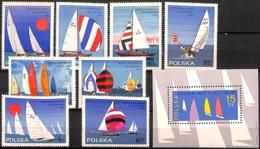 D - [828702]TB//**/Mnh-Pologne 1965 - N° 1440/47+BL43, Yachting, Avec Le Bloc, Bateaux, Sports, Voile, SC - Bateaux