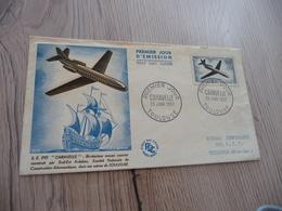 Lettre France Premier Jour 1957 Aviation PA N° 36 Caravelle - FDC