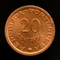 Sao Tome And Principe 20 Centavos 1971. UNC Coin Km16.2 - Sao Tome And Principe