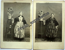 CPA Carte Photo Femme Folklore Breton Costume Robe Dress Women Bretagne France - Kostums