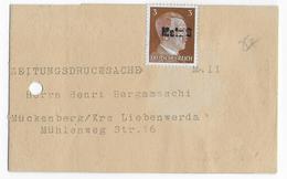 1941/1944 - MOSELLE - HITLER Sur BANDE JOURNAL De METZ Avec ANNULATION LINEAIRE METZ 3 => MÜCKENBERG - Marcofilie (Brieven)