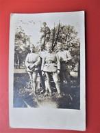 Carte Photo Atelier Anstalt Alzey (Allemagne) Groupe De Sapeurs Du 8 Eme Regiement  GENIE - Guerre 1914-18