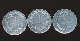 ALBERT I  1 FRANC 1911 1912 FR + 1 FR 1912 VL  2 SCANS - 1909-1934: Albert I