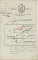 Paris An 7-.1799 Cachet Service Des Postes,manuscrit Service Des Relais Adm. Des Postes Issenheim- Colmar Héraldique - Storia Postale