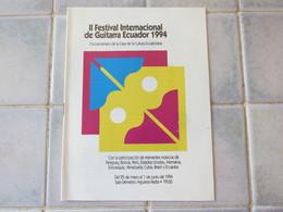 Ll Festival International De Guitarra Ecuador 1994 - Programs