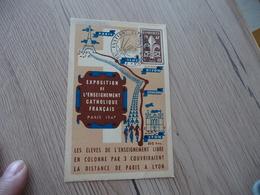 France Carte Maximum Jamboree 1947 Paris Exposition Enseigneent Catholique - Scouting