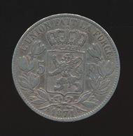LEOPOLD II  5 FRANC 1871    2 SCANS - 1865-1909: Leopold II