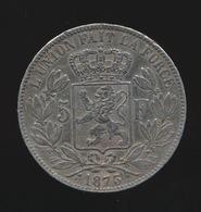 LEOPOLD II  5 FRANC 1873    2 SCANS - 1865-1909: Leopold II